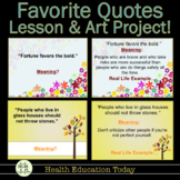 Promote Values with a Motivating Quotes Lesson and Fun Art Project!