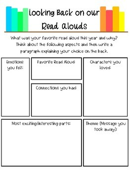 Favorite Read Aloud Opinion Writing