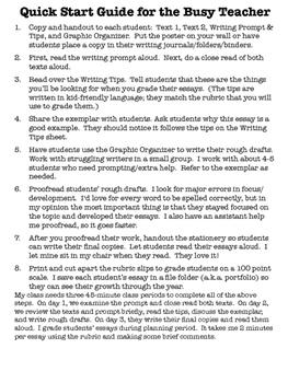 Favorite Season Opinion Essay Writing Prompt Common Core TNReady Aligned