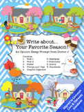 Favorite Season Opinion Essay Writing Prompt Common Core TNReady Aligned
