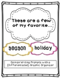 Favorite Season and Holiday--Opinion Writing and {Differentiated} Organizer