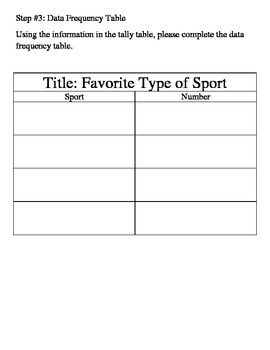 Favorite Sport Graphing Project