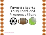 Favorite Sports Tally Chart and Frequency Table