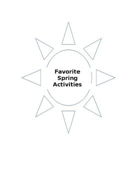 Favorite Spring Activity Writing Activity