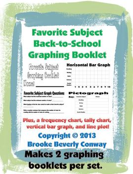 Favorite Subject Back-To-School Graphing Booklet