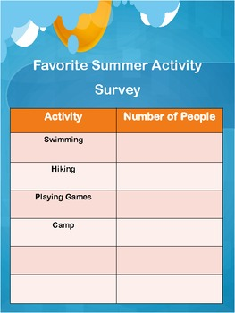 Summer Graphing FREEBIE