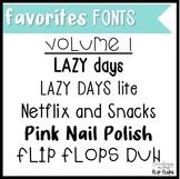 Favorite Things Fonts: Volume 1