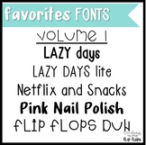 Favorites Fonts: Volume 1