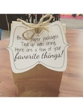 Favorite Things Gift Bag Tags FREEBIE!!