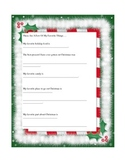 Favorite Things Holiday Worksheet