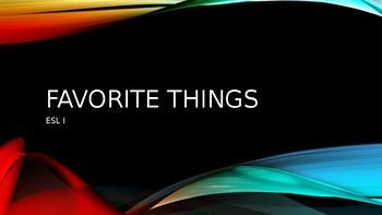 Favorite Things Powerpoint