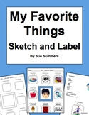 Favorite Things Sketch and Label Activity
