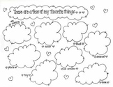 'Favorite Things' - Student introduction printable