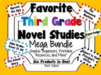 Favorite Third Grade Novel Studies Mega Bundle