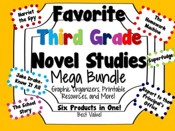 Favorite Third Grade Novel Studies Mega Bundle