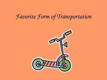 Favorite Transportation Expository Essay Model