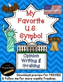 Favorite U.S. Symbol Opinion Writing & Graphing-freebie included in preview
