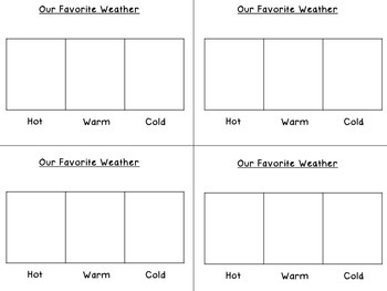 Favorite Weather Tally Chart for Notebooks