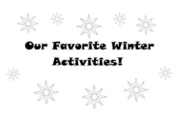 Favorite Winter Activities Sign