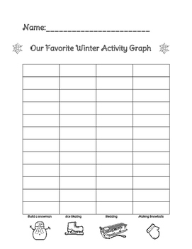 Favorite Winter Activity Graph and Bulletin Board