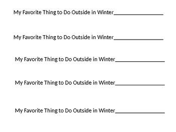 Favorite Winter Things