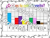 Favorite color- Spanish activity and graph