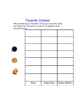 Favorite cookie graph SMART Board activity