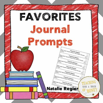 Writing Prompts About Favorites: 25 Cut-And-Paste Writing Prompts