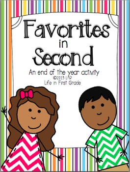 Favorites in Second: An End of the Year Activity
