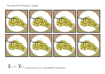 Favourite Fruit Pictogram Images