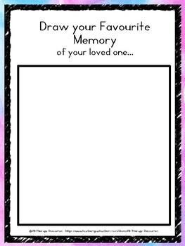Favourite Memories Activity - Grief & Loss, death, lesson, trauma, activity