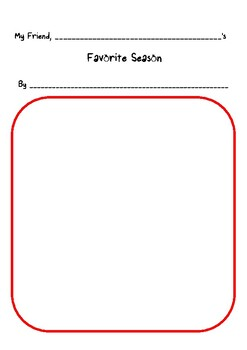 Favourite Season: My friend ______'s, and mine.  ESL printables