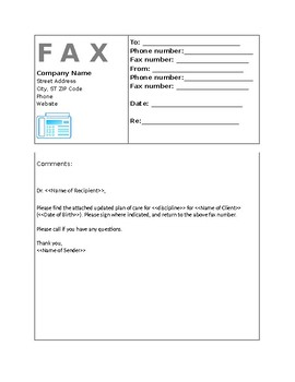 Fax Cover Sheet-Request MD to sign UPOC-EDITABLE
