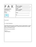 Fax Cover Sheet--Requesting Orders from MD--EDITABLE