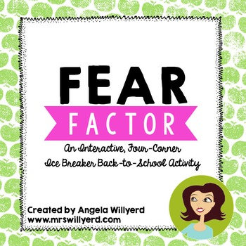 Back to School Ice Breaker - Fear Factor Interactive Four-Corner Game