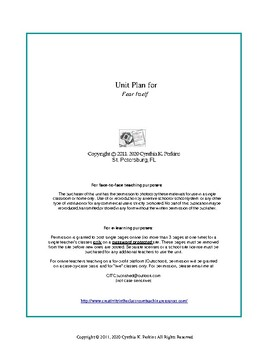 Fear Itself - Clements - Complete Literature and Grammar Unit