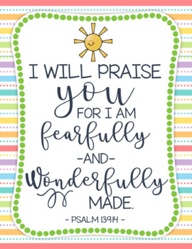 Fearfully and Wonderfully Made Printable
