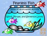 """Initial /f/ Articulation Activity """"Fearless Fish"""""""