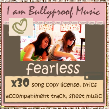 Fearless Song Kit - license x30, sheet music, lyrics, accompaniment track