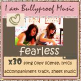 Fearless Song Kit - license x30, sheet music, lyrics, acco