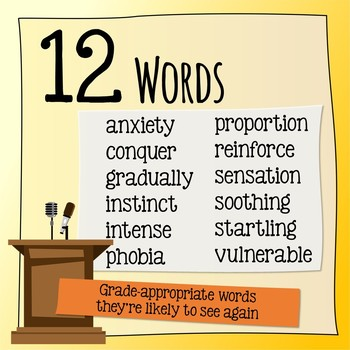 Fears & Phobias / In the Spotlight Vocabulary - HMH Collections
