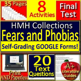 Fears and Phobias 6th Grade HMH - 8 Activities, Jeopardy Game, and Final Test
