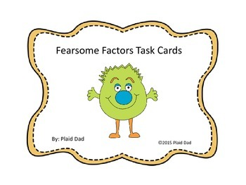 Fearsome Factors Task Cards