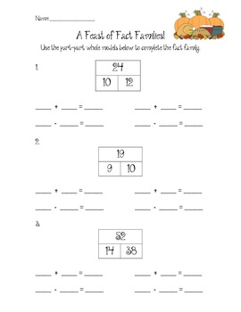 Feast of Fact Families- Differentiated