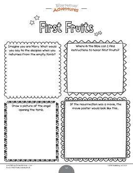 Feast of First Fruits Activity Book