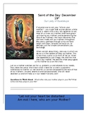 Feast of Our Lady of Guadalupe Saint of the Day Worksheet