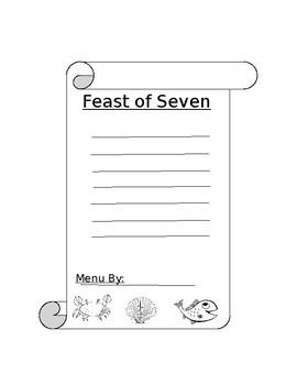 Feast of Seven Fishes Menu