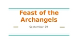Feast of the Archangels PowerPoint