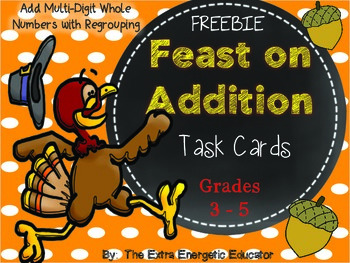 Feast on Addition {Task Card FREEBIE}