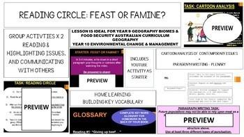 Feast or Famine? Reading Circle Activity & Cartoon Analysis